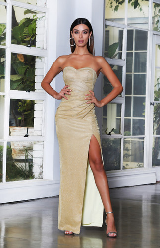 JX4078 Gown - Gold