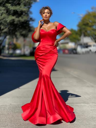 Jadore JX4079 Gown - Red