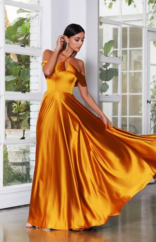Jadore JX4084 Gown - Mustard