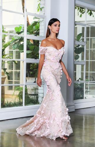 Jadore JX4028 Gown - Pink