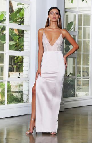 Jadore JX4061 Gown - Nude
