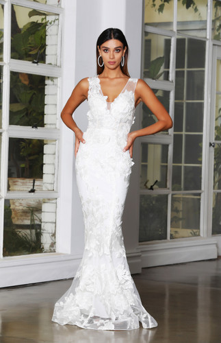 Jadore JX4063 Gown - Ivory