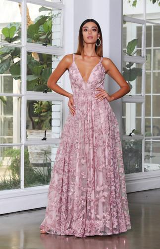 Jadore JX4064 Gown - Antique Pink