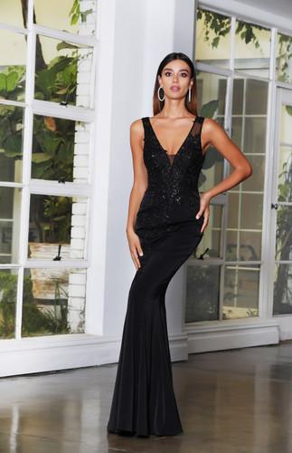 Jadore JX4080 Gown - Black