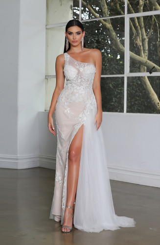 Jadore JX4030 Gown - Ivory/Nude