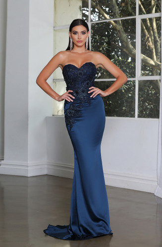 Jadore JX4004 Gown - Teal Blue