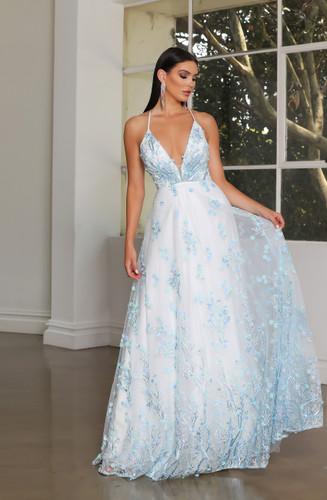 Jadore JX4086 Gown - Light Blue
