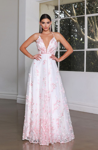 Jadore JX4086 Gown - Light Pink