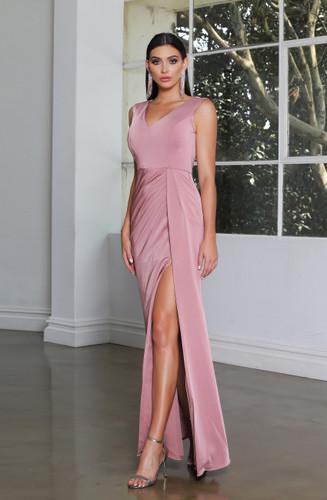 Jadore JX4047 Gown - Antique Pink
