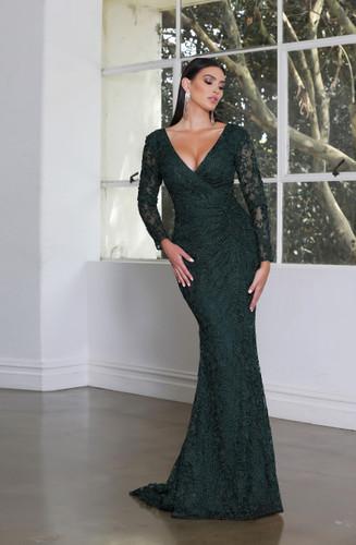 Jadore JX4016 Gown - Emerald