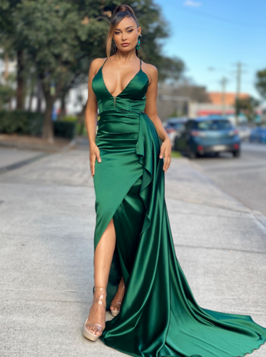 Jadore JX4044 Gown - Dark Green
