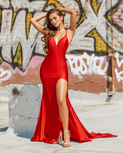 Portia & Scarlett PS21205 Gown - Red