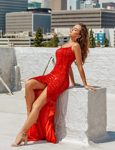Portia & Scarlett PS21209 Gown - Red