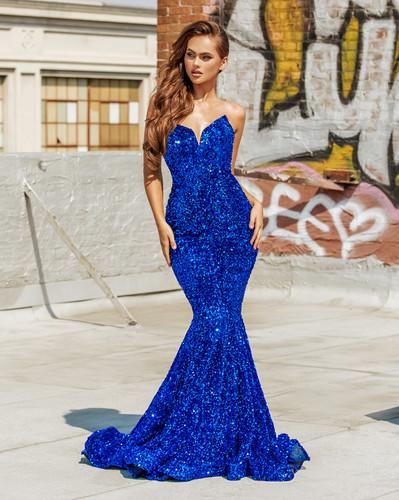 Portia & Scarlett PS21208 Gown - Cobalt