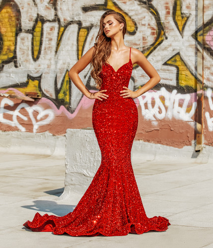 Portia & Scarlett PS21207 Gown - Red