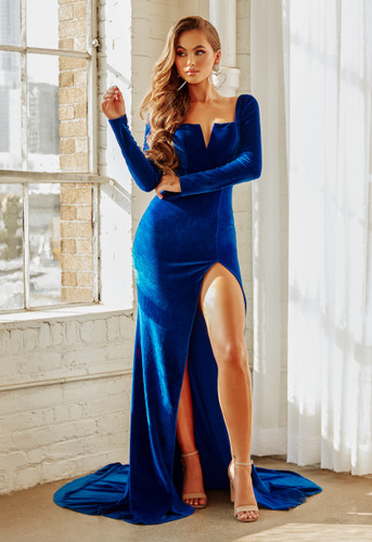 Portia & Scarlett PS21203 Gown - Blue