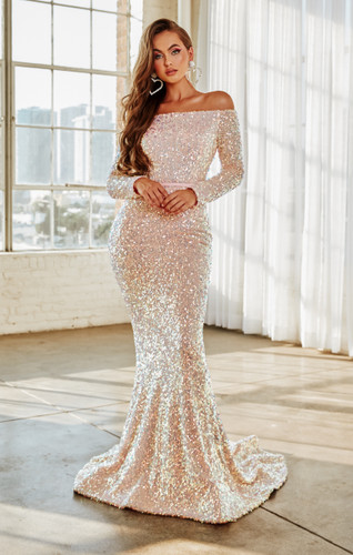 Portia & Scarlett PS21032 Gown - Blush Multi