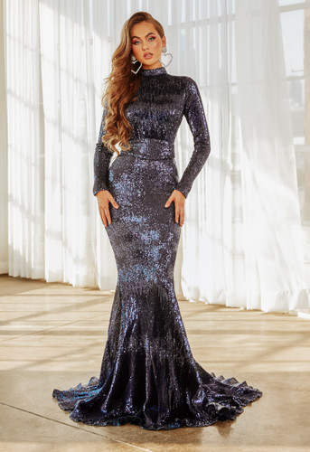 Portia & Scarlett PS21202 Gown - Navy