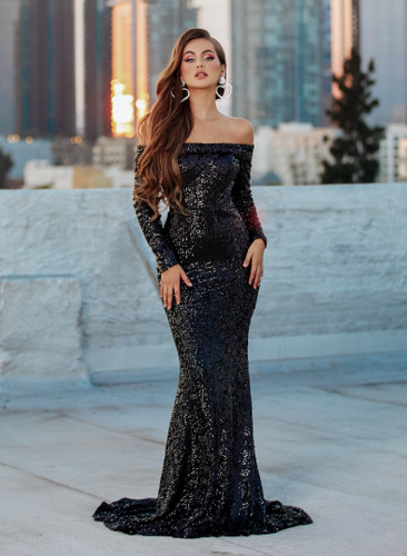 Portia & Scarlett PS21200 Gown - Black