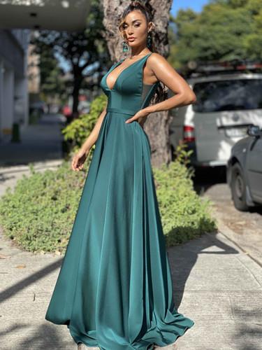 Jadore JX4055 Gown - Dark Green