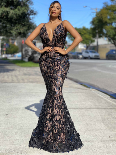 Jadore JX4019 Gown - Black