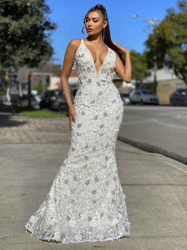 Jadore JX4019 Gown - Ivory