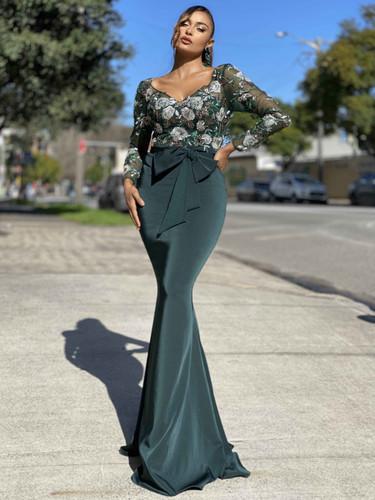 Jadore JX4018 Gown - Emerald