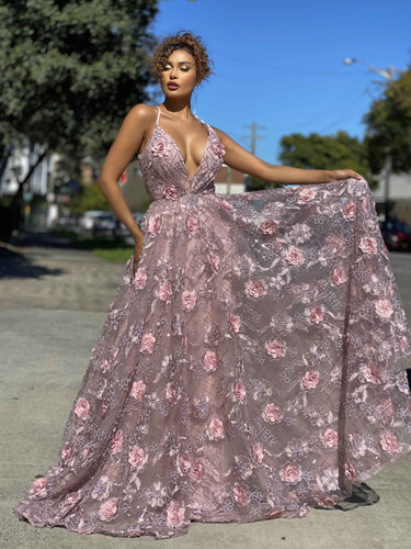Jadore JX4025 Gown - Dusty Pink