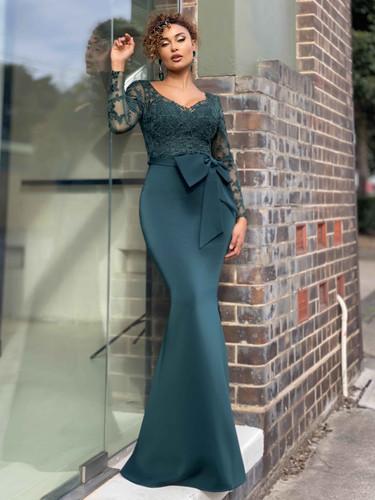 Jadore JX4015 Gown - Emerald