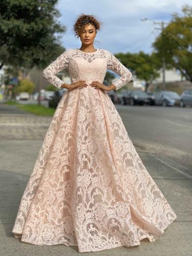 Jadore JX4048 Gown - Pink