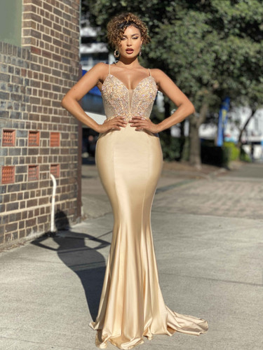 Jadore JX4077 Gown - Cream