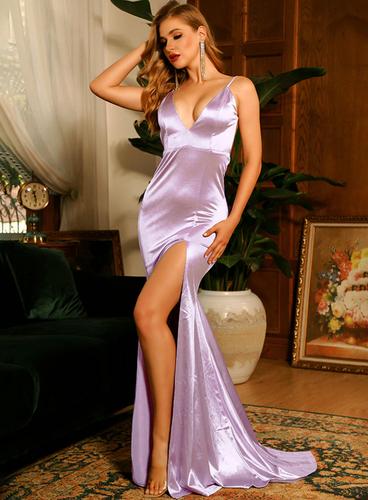 Mila Label Alisha Gown - Lavender
