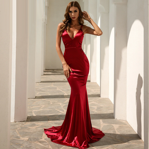 Mila Label Kylee Gown - Red