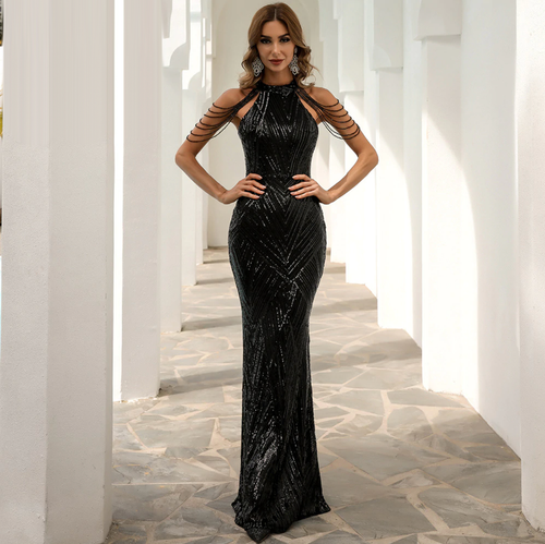Mila Label Whitney Gown - Black