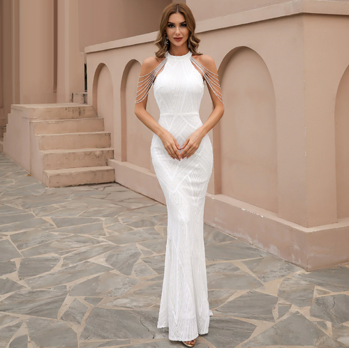 Mila Label Whitney Gown - White