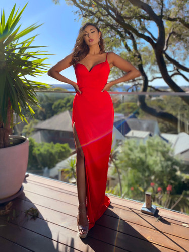 Jadore JX5064 Gown - Red