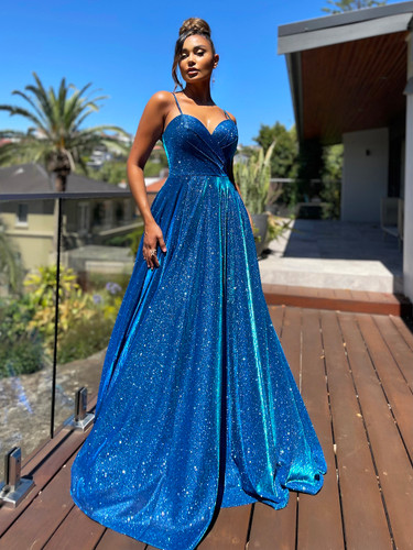 Jadore JX5007 Gown - Electric Blue