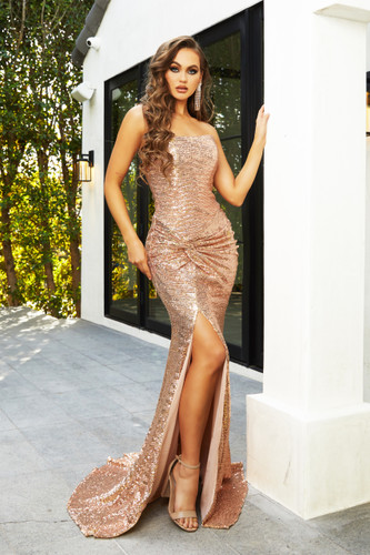 Portia & Scarlett PS21286 Gown - Rose Gold