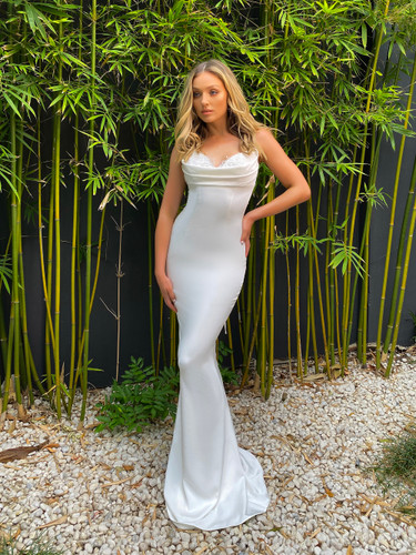 Jadore JX5027 Gown - Ivory