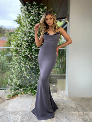 Jadore JX5027 Gown - Charcoal