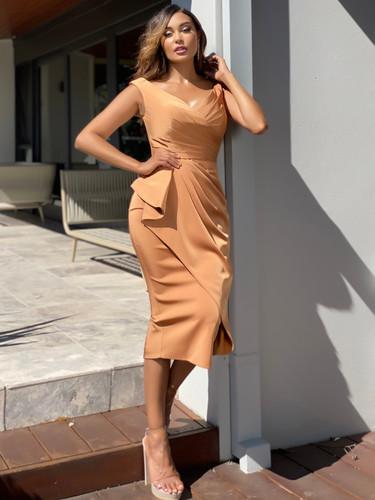Jadore JX5061 Dress - Copper