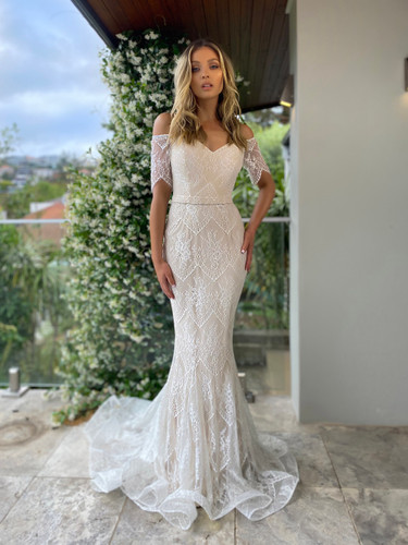 Jadore JX5054 Gown - Ivory/Nude