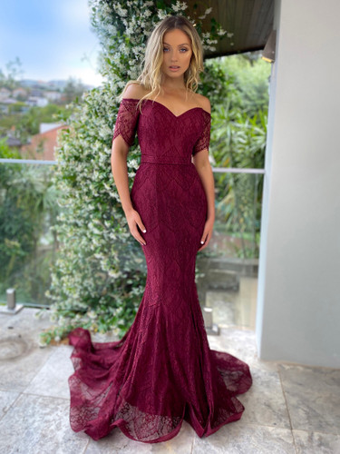 Jadore JX5054 Gown - Wine