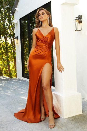 Portia & Scarlett Hugo Gown - Burnt Orange