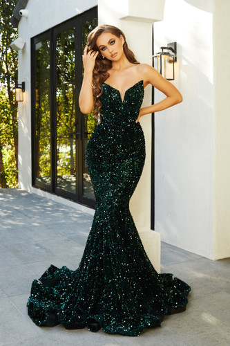 Portia & Scarlett PS21208 Gown - Emerald