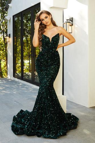 Portia & Scarlett PS21208 Gown - Emerald