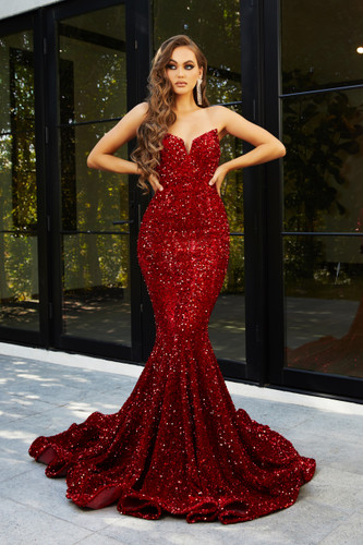 Portia & Scarlett PS21208 Gown - Red