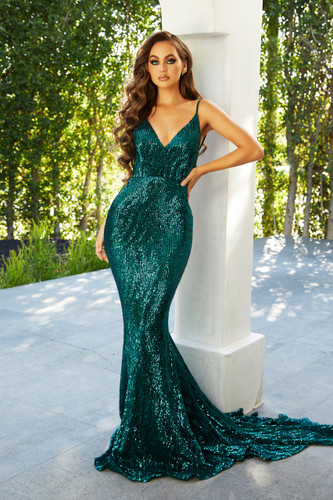 Portia & Scarlett PS21287 Gown - Emerald