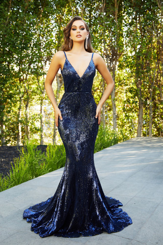 Portia & Scarlett PS21287 Gown - Navy