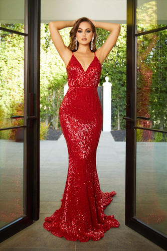 Portia & Scarlett PS21287 Gown - Red